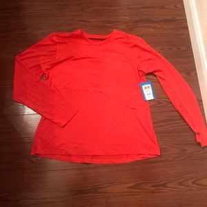 Women's burnt orange Columbia long sleeve shirt